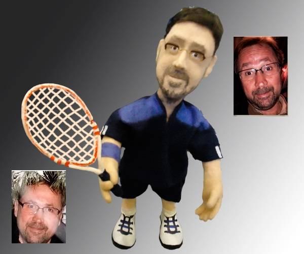 портретная кукла теннисист